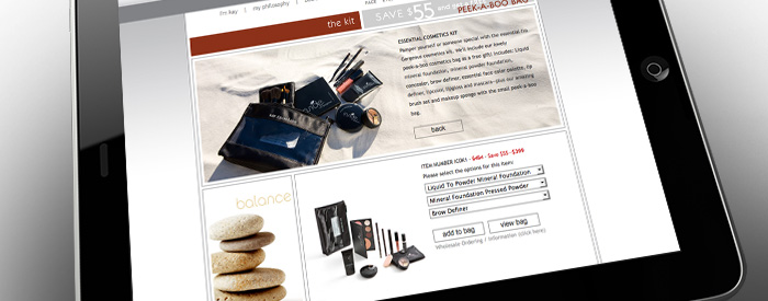 Kay Casperson Website, Product Ordering Page