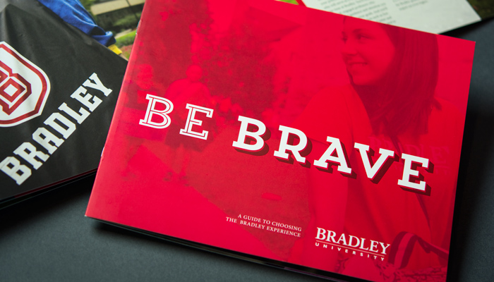 8 page Bradley University guide cover