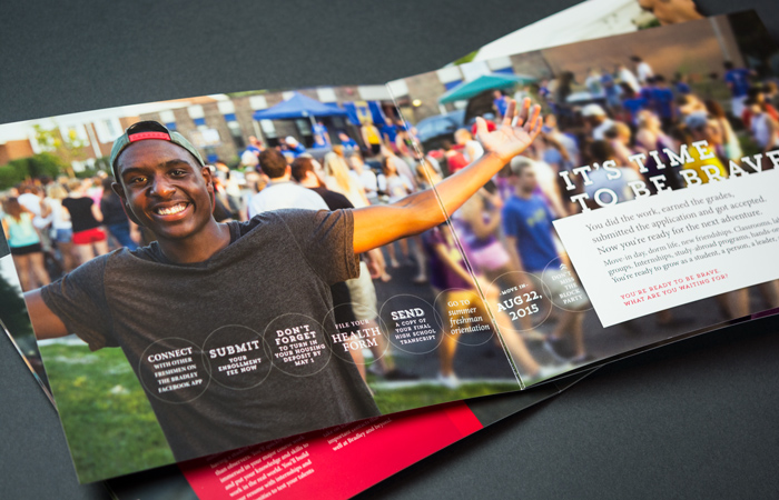 8 page Bradley University guide interior