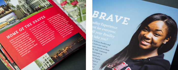 16 page Bradley University guide interior