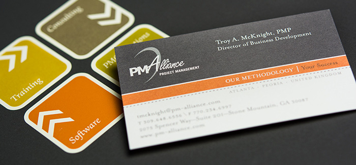 PM Alliance business card